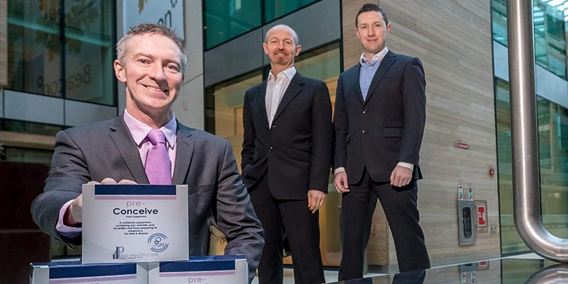 Declan Keane Director at ReproMed Ireland along with Pillar Healthcares Matt Ronan and Mark Whitney