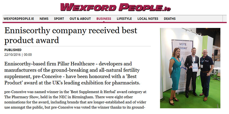 Enniscorthy company received best product award