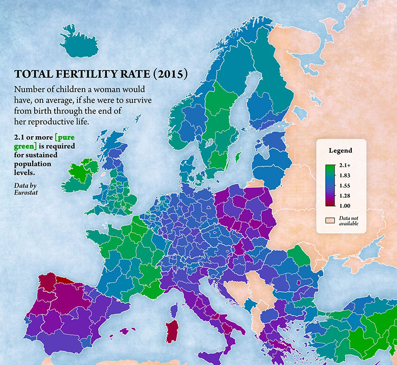 fertility rates europe