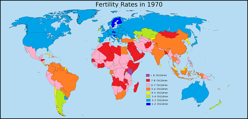 fertility rates 1970